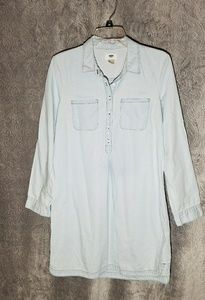 Old Navy chambray shirt dress M